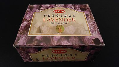 LAVENDER 12 Boxes of 10 = 120 HEM Incense Cones Bulk Case Retail Display