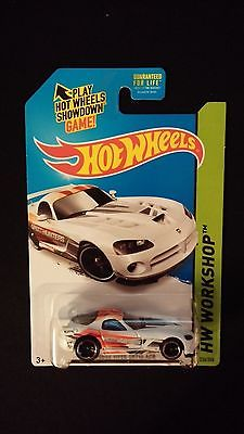 2015 HOT WHEELS Dodge Viper SRT10 ACR (White) HW WORKSHOP Collectible Toy Car
