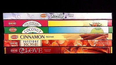 VALENTINES DAY Love Scents 6 Boxes of 8 = 48 HEM Incense Sticks Sampler Gift Set