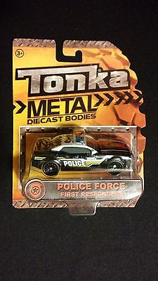"Tonka Police Car ""Police Force First Responder"" Large Die Cast Metal [EMERGENCY]"