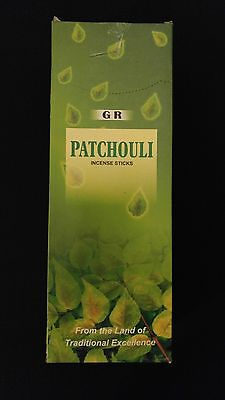PATCHOULI 6 Boxes of 20 = 120 GR Incense Sticks Bulk Case Retail Display Box