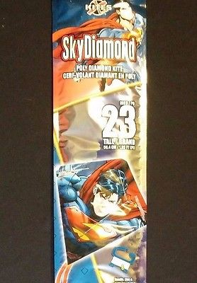 Large Superman Diamond Top Kite Shipped In Mailing Tube