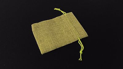 10pc LIGHT GREEN Burlap Cloth Drawstring Gift Bags Party Wedding Favors 9X12CM