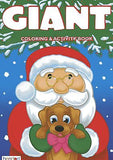 Santa Claus & Cute Puppy Christmas Coloring Book Stocking Stuffer Activity