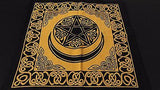 "18"" x 18"" PENTACLE MOON Gold Hippie Cotton Cloth HENNA ARTIST TOTE BAG ~ India"