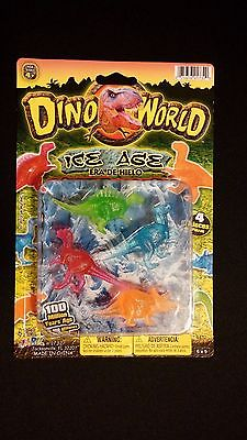 Dino World Ice Age Plastic Dinosaur Miniatures 4 pieces
