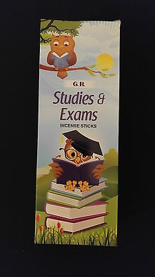 STUDIES & EXAMS 6 Boxes of 20 = 120 GR Incense Sticks Bulk Case Retail Display