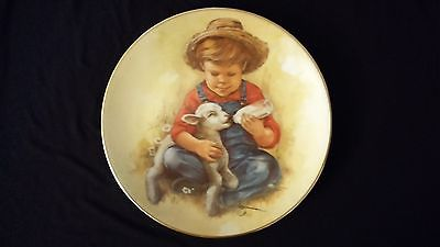 1981 Leaders of Tomorrow Future Farmer Jansen Vintage Collectors Edition Plate
