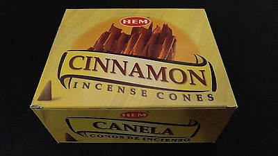 CINNAMON 12 Boxes of 10 = 120 HEM Incense Cones Bulk Case Retail Display