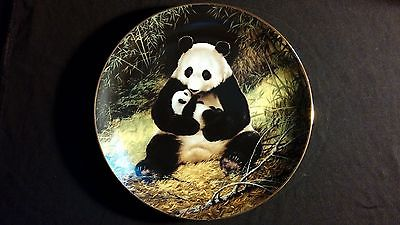 1988 The Panda Endangered Species Vintage Collectors Edition Plate