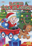 Lead The Sleigh Reindeer Dog Christmas Coloring Book Stocking Stuffer Activity