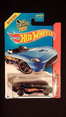 2015 HOT WHEELS RRRoadster Blue w/ HW Flame Logo HW RACE Collectible Toy Car