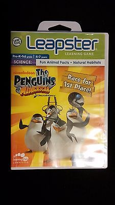 Leapster Madagascar Penguins Electronic Learning Game Software