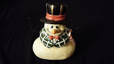 Snowman w/ Candy Cane [CARLTON CARDS] MERRY CHRISTMAS