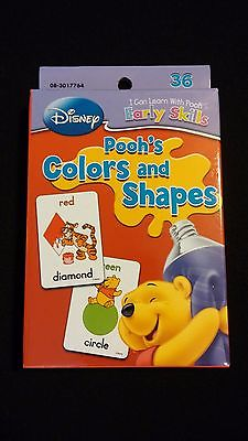 Disney Winnie The Pooh Bear Colors & Shapes Educational Learning [FLASH CARDS]