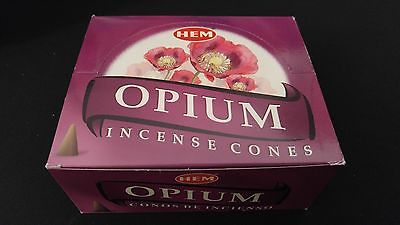 OPIUM 12 Boxes of 10 = 120 HEM Incense Cones Bulk Case Retail Display