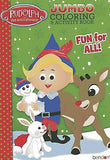 Rudolph Reindeer & Santa's Elf Christmas Coloring Book Stocking Stuffer Activity