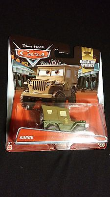 Disney Pixar Cars SARGE Army Sargeant / Collectible Movie Toy Vehicle By Mattel