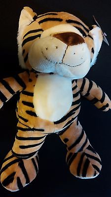 "Medium Sized Baby Striped TIGER 12"" Super Soft Snuggly Stuffed Animal Zoo Toy"