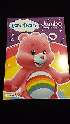 CARE BEARS Pink CHEER BEAR Rainbow Coloring Activity Book Stocking Stuffer