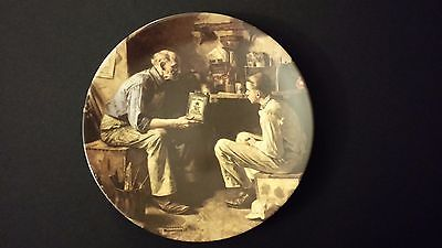 1995 Norman Rockwell The Apprentice Knowles Collector Edition Plate
