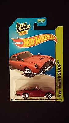 2015 HOT WHEELS Aston Martin 1963 DB5 (Burgundy) HW WORKSHOP Collectible Toy Car