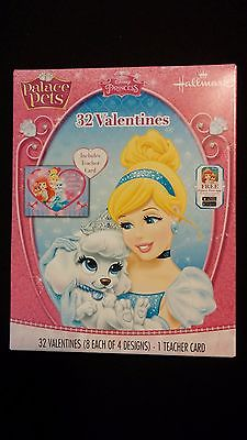 VALENTINES DAY CARDS Box of 32 Disney Palace Pets / 4 Designs / Classroom Pack