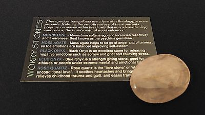 Rose Quartz [SOOTHE HEARTACHE / RELIEVE GUILT] Crystal Healing Thumb WORRY STONE