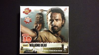AMC The Walking Dead Rick Grimes & Michonne 150pc Super 3D Puzzle