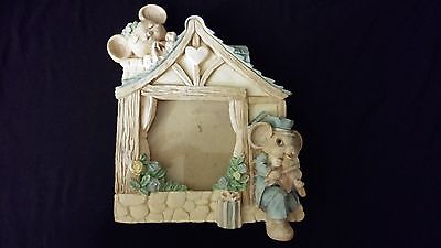 Serenade Boy Mouse w/ Violin & Sleeping Girl PICTURE FRAME
