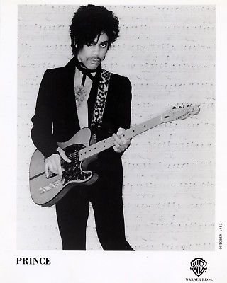 PRINCE 8x10 B&W Print Singer Publicity Press Photo Music Memorabilia Photograph