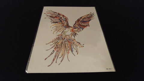 Birds Series Feathers Flying Wings TEMPORARY HENNA TATTOO Waterproof Transfer