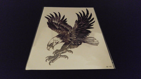 Eagle Series Feathers Freedom Patriot TEMPORARY HENNA TATTOO Waterproof Transfer