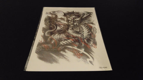 Chinese Dragons Series China Myths TEMPORARY HENNA TATTOO Waterproof Transfer