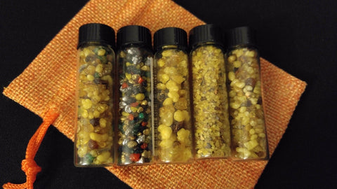 5pc Resin Incense Gift Set Healing Nirvana Buddha Meditation 7 Chakras Sampler