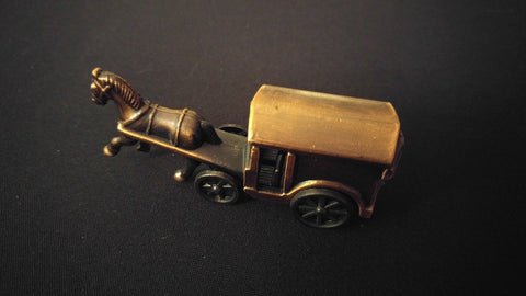 HORSE & BUGGY Collectible Pencil Sharpener Antiqued Bronze Die-Cast w/ Plastic