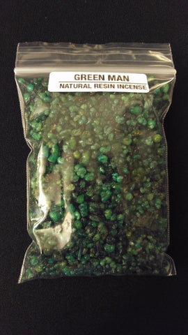 2oz GREEN MAN Natural Granular Resin Incense Premium Quality Dyed Frankincense