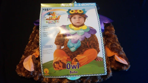Infant/Toddler Halloween Costume Size 0-6 Noahs Ark Collection Wise Hoot Owl