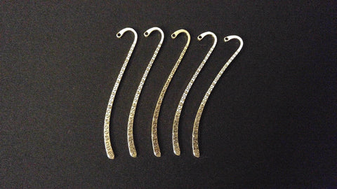 Bulk 5 Spiral Pattern Antique Silver Tone Bookmark Jewelry Findings 85mm 5pcs