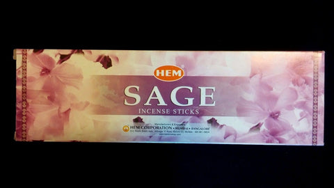SAGE 25 Boxes of 8 = 200 HEM Incense Sticks Bulk Case Retail Display