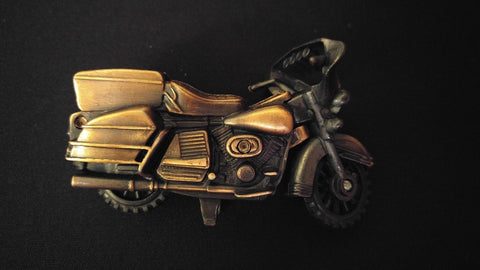 MOTORCYCLE Collectible Pencil Sharpener Antiqued Bronze Die-Cast Metal w/Plastic