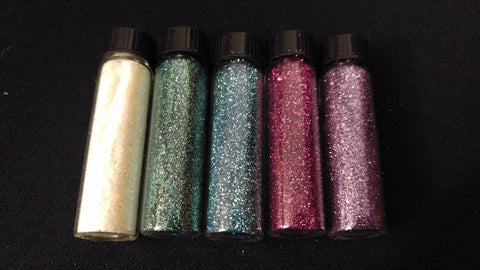 5pc ENCHANTMENT Henna Tattoo Quality Fine Cosmetic Body Glitter Mini Sampler Set