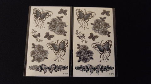 2pc Small Makeup Shoulder Art Tattoo TEMPORARY HENNA TATTOO Waterproof Transfer