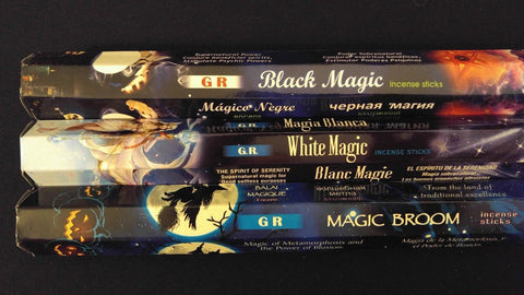 BLACK & WHITE MAGIC Magic Broom 60 GR Incense Sticks 3 Scent Sampler Gift Set