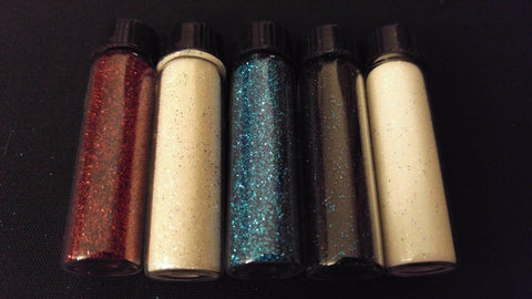 5pc USA PATRIOT Henna Tattoo Quality Fine Cosmetic Body Glitter Mini Sampler Set