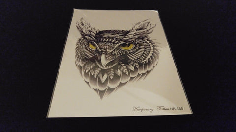 Owl Series Hooter Hoot Harry Potter TEMPORARY HENNA TATTOO Waterproof Transfer