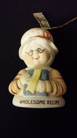Small Hershey Foods Corporation Wholesome Recipe Grandma Porcelain Bell ~ Taiwan