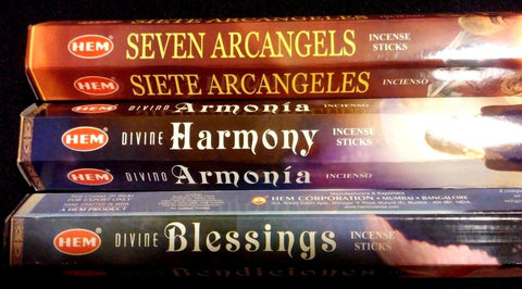 DIVINE Blessings Harmony Seven ArchAngels 60 HEM Incense Sticks Sampler Gift Set