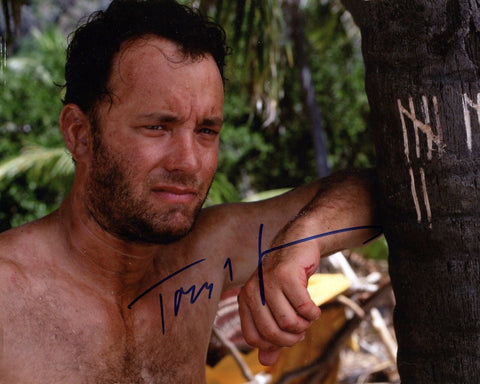 CASTAWAY TOM HANKS 8x10 Color Signed Reprint Photo Movie Actor Memorabilia