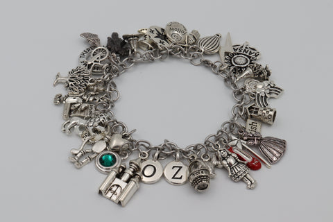 Charm Bracelet WIZARD OF OZ Big Deluxe 35x Charms Stainless Steel Designer Gift